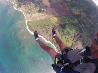 Skydive feet